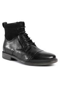 Czarne buty zimowe Geox z cholewką