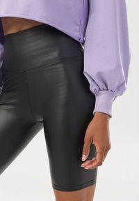Born2be - Czarne Kolarki Olurainise. Kolor: czarny. Materiał: skóra, prążkowany. Styl: street, rockowy