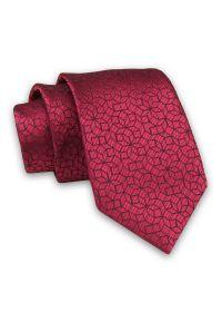 Czerwony krawat Alties elegancki, w geometryczne wzory