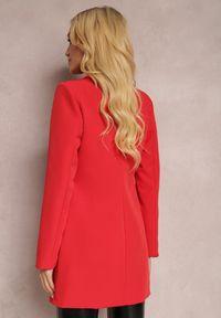 Renee - Czerwona Marynarka Iseope. Kolor: czerwony. Materiał: tkanina. Długość: długie. Wzór: jednolity. Styl: elegancki #4