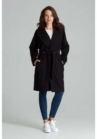 Czarny płaszcz Katrus