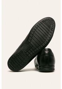 Czarne sneakersy Wojas z cholewką, z okrągłym noskiem
