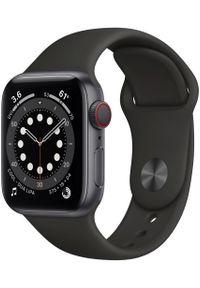 APPLE - Apple smartwatch Watch Series 6 Cellular, 40mm Space Gray Aluminium Case with Black Sport Band. Rodzaj zegarka: smartwatch. Kolor: szary. Styl: sportowy