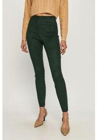Zielone spodnie materiałowe Vero Moda z podwyższonym stanem