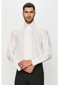 Biała koszula Karl Lagerfeld na co dzień, elegancka, długa