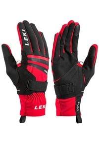 Leki - LEKI Rękawice Slope Shark MF Touch Black/Red
