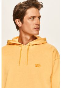 Żółta bluza nierozpinana Levi's® biznesowa, na spotkanie biznesowe, z kapturem