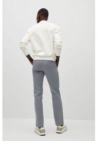 Mango Man - Spodnie Barna. Kolor: szary