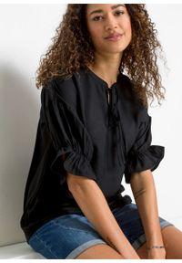 Bluzka shirtowa bonprix czarny. Kolor: czarny