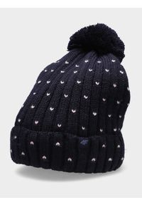 Niebieska czapka zimowa 4f