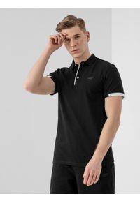 Czarna koszulka polo 4f casualowa, na co dzień, polo