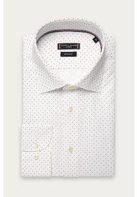 Biała koszula Tommy Hilfiger Tailored z klasycznym kołnierzykiem, klasyczna, długa