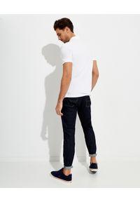Ralph Lauren - RALPH LAUREN - Biała koszulka Custom Slim Fit. Typ kołnierza: polo. Kolor: biały. Materiał: bawełna, prążkowany. Wzór: haft #4