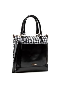 Nobo - Torebka NOBO - NBAG-J2950-CM20 Biały Czarny. Kolor: wielokolorowy, biały, czarny. Materiał: skórzane. Styl: klasyczny