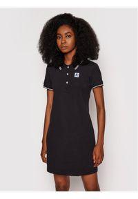 Starter Sukienka codzienna SDG-013-BD Czarny Regular Fit. Okazja: na co dzień. Kolor: czarny. Typ sukienki: proste. Styl: casual