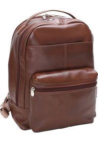 Plecak MCKLEIN Skórzany męski plecak na laptopa MCKLEIN Parker 88555 brązowy. Kolor: brązowy. Materiał: skóra
