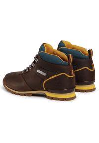 Brązowe buty sportowe Timberland z aplikacjami, z cholewką