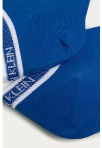 Niebieskie skarpetki Calvin Klein gładkie