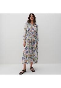 Reserved - Sukienka z wiskozy - Wielobarwny. Materiał: wiskoza