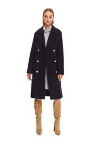 Szara sukienka TOP SECRET na zimę, z długim rękawem, z golfem