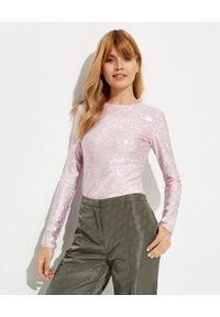 SAKS POTTS - Różowa bluzka Saya. Okazja: na imprezę. Kolor: różowy, wielokolorowy, fioletowy. Materiał: materiał. Długość rękawa: długi rękaw. Długość: długie