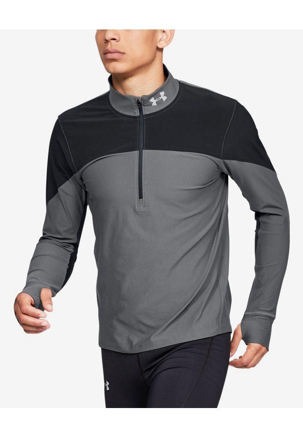 Szara bluza Under Armour długa, sportowa, w kolorowe wzory