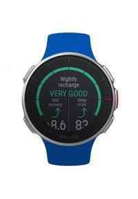Niebieski zegarek POLAR sportowy, cyfrowy