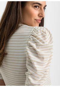 Beżowa bluzka bonprix w paski