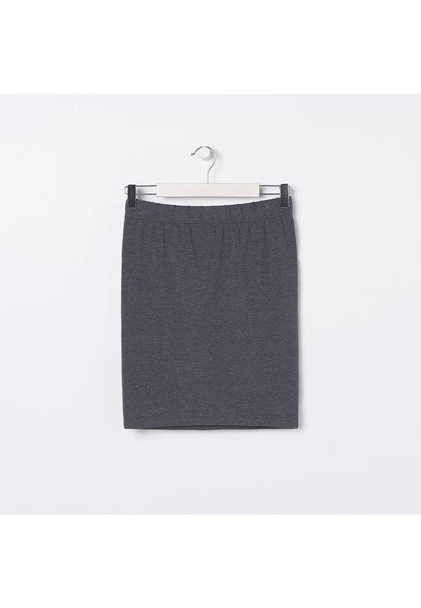 Sinsay - Spódnica tuba basic - Szary. Kolor: szary