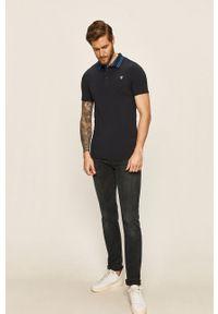 Niebieska koszulka polo Guess Jeans polo, krótka