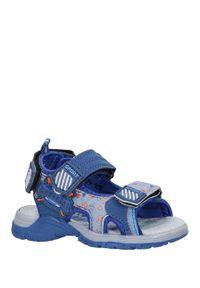 Casu - niebieskie sandały na rzepy casu la80. Zapięcie: rzepy. Kolor: niebieski