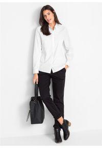 Biała koszula bonprix długa, z długim rękawem