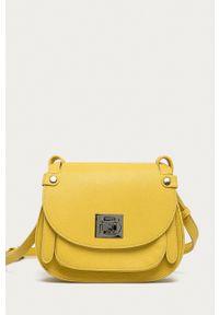 Nobo - Torebka. Kolor: żółty. Rodzaj torebki: na ramię