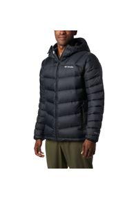 Czarna kurtka turystyczna columbia na zimę