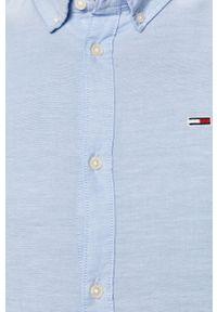Niebieska koszula Tommy Jeans button down, długa