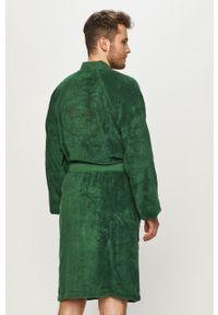 Zielony szlafrok Lacoste gładki