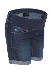 Szorty ciążowe dżinsowe z paskiem pod brzuch bonprix Szorty ciąż.dżins c.ni.st. Kolekcja: moda ciążowa. Kolor: niebieski. Sezon: lato