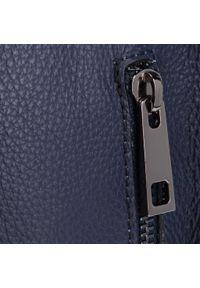 Niebieska torebka klasyczna Creole skórzana, klasyczna