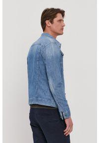 G-Star RAW - G-Star Raw - Kurtka jeansowa. Okazja: na co dzień. Typ kołnierza: kołnierzyk klasyczny. Kolor: niebieski. Materiał: jeans. Styl: klasyczny, casual