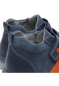 RenBut - Trzewiki RENBUT - 23-3356 Led Granat/Pomarańcz. Kolor: niebieski. Materiał: skóra, zamsz. Szerokość cholewki: normalna. Sezon: zima #6