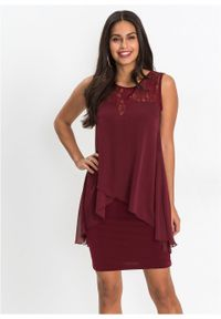 Czerwona sukienka bonprix