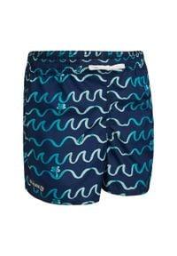 OLAIAN - Spodenki Surfing Bs 100 Origami Dla Dzieci. Kolor: niebieski. Materiał: poliester, materiał. Długość: krótkie