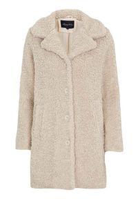 Happy Holly Pluszowy płaszcz Nicole jasnobeżowy female beżowy 40/42. Kolor: beżowy. Materiał: tkanina, materiał. Sezon: jesień, wiosna, zima