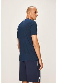 Under Armour - T-shirt. Okazja: na co dzień. Kolor: niebieski. Materiał: materiał. Wzór: nadruk. Styl: casual