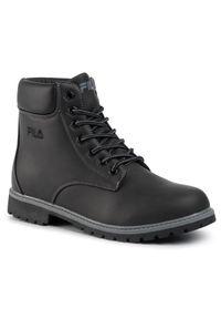 Czarne buty sportowe Fila trekkingowe