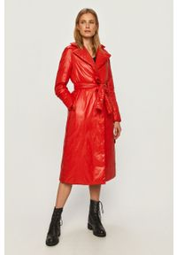 Czerwona kurtka After Label na co dzień, bez kaptura
