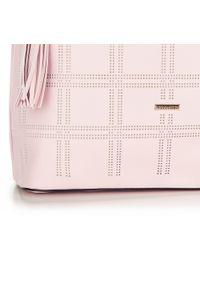 Różowa torebka worek Wittchen na lato, z frędzlami #5