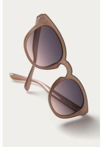 Różowe okulary przeciwsłoneczne Pieces owalne
