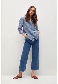 Morskie jeansy loose fit mango z podwyższonym stanem