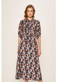 Niebieska sukienka Haily's na co dzień, midi, w kwiaty